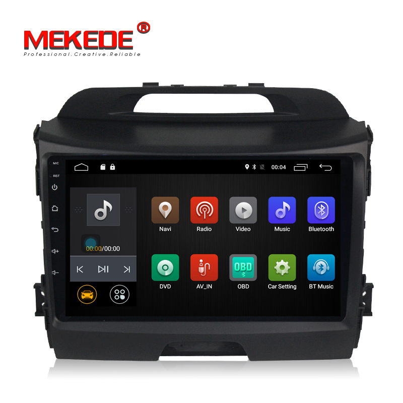 Spedizione gratuita! 9 pollici Touch Screen Capacitivo Android7.1 Gps di lettore DVD Dell'automobile per KIA sportage 2011-2015 supporto 4g lte wifi BT MIC