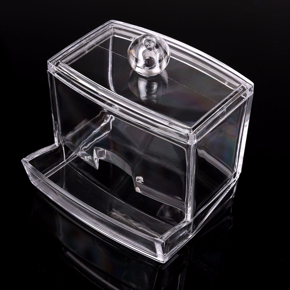 LemonBest Clear Acrylic Q Tip Storage Holder Box Transparent Cotton Swabs  Stick Cosmetic Makeup Organizer Case High Quality  In Storage Boxes U0026 Bins  From ...