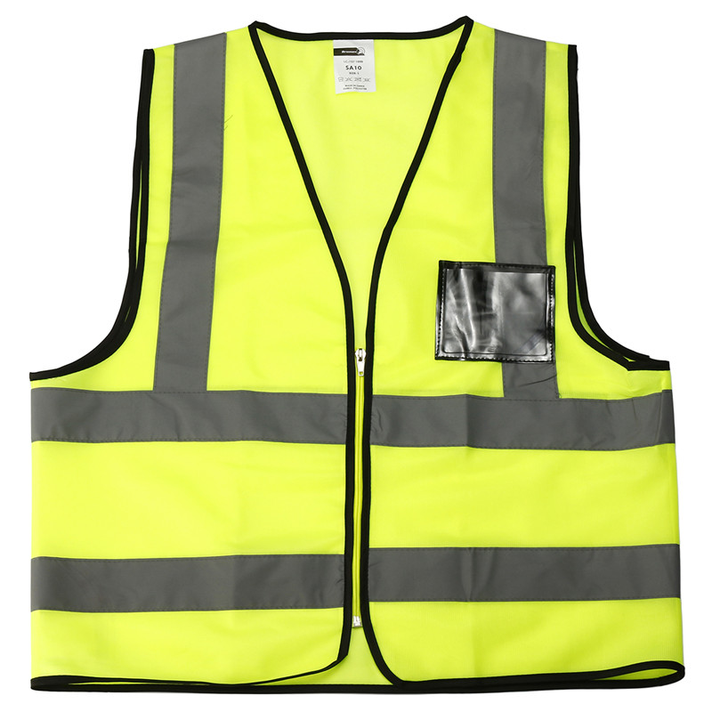 Safurance L/XL Reflective Safety Vest Working Clothes High Visibility Day Night Jacket Security Waistcoat For Running Cycling safety reflective vest highlight reflector stripe for day night working