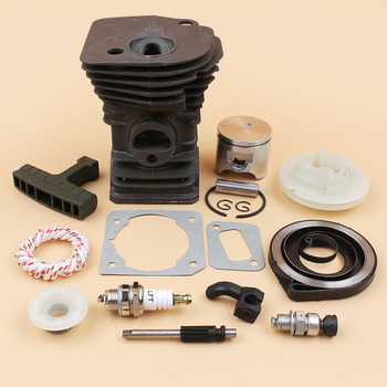 42mm Cylinder Piston Oil Pump Piston Worm Gear Pulley Spring Kit Fit Husqvarna 340 345 Chainsaw Motor Replacement Parts