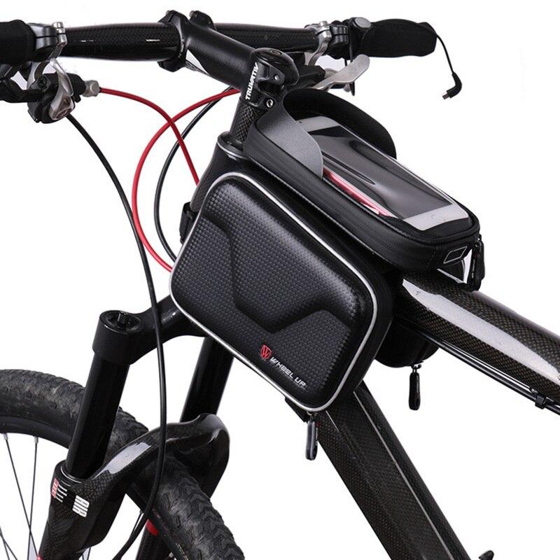 La ROUE Étanche À La Pluie Sac De Vélo Avant Frame Tube Sac Pour Vélo Double Poche Un Vélo Vélo 6.2 Pouce Téléphone portable Vélo Accessoires