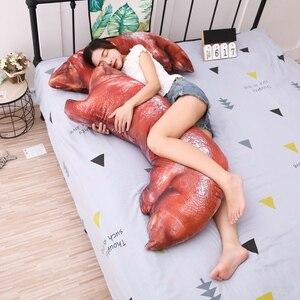 Almohada de tamaño grande de 110cm con forma de cerdo de juguete, almohada con cama para dormir bonita, cojín suave de tela suave para niños como regalo de Navidad