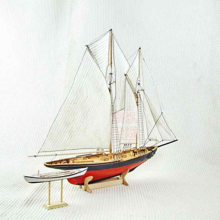 NEW Scale 1/87 Benjamin W.Latham 1902 model ship laser cut wood sailboat Children education toys