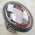 Huge Morganite Women 925 Sterling Silver Ring F801 Size 6 7 8 9 10