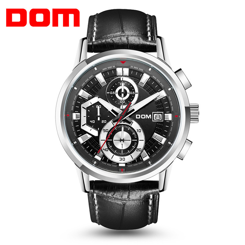 DOM Sport Mens Watch Military WristWatch Reloj Hombre Clock Men Watches 2017 Relogio Masculino Montre Homme Quartz Watch For Men sinobi mens military watches luxury quartz watch men clock silicone strap sport watches male wristwatch waterproof reloj hombre
