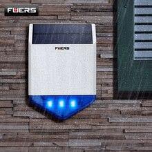 FUERS açık güneş Siren su geçirmez kablosuz Siren hırsız alarmı flaş ışığı G18 G19 WG11 G90B artı ev Alarm sistemi