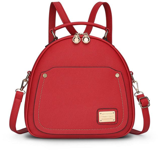 8529fde3ce Multifunction leather women fashion Messenger shoulder bags female student  backpacks College girls matte Satchel tote 2 stripes