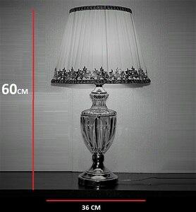 Image 3 - Lâmpada de mesa moderna, estilo europeu, para quarto, sala de estar, decoração de luxo, lâmpada de mesa, iluminação de mesa lateral