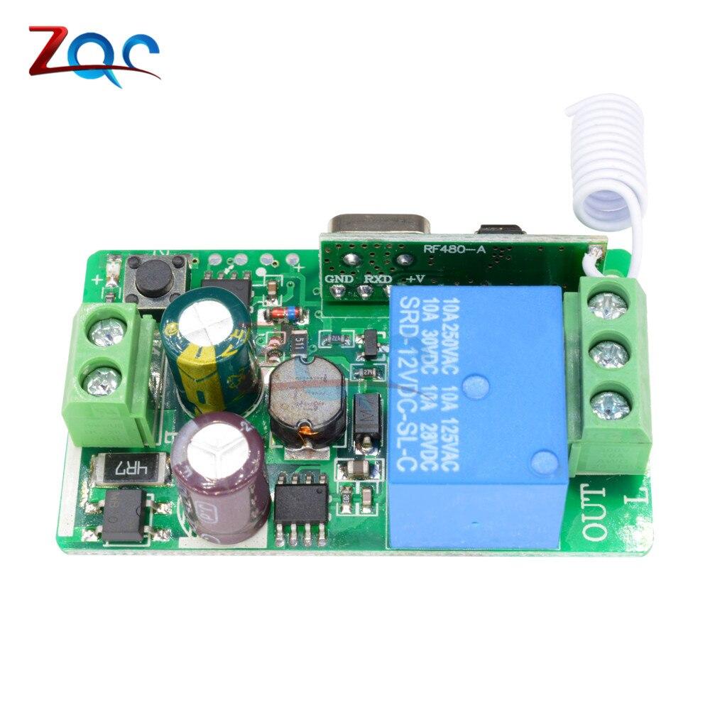 1-Channel AC 220V Wireless RF Remote Control Receiver Relay Switch 433MHz TC ZQ