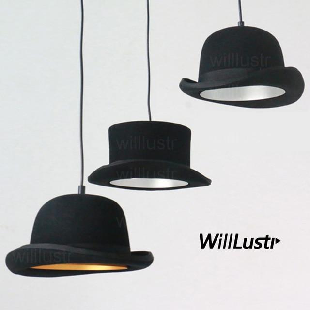chapeau en feutre de laine fait à la main pendentif en aluminium