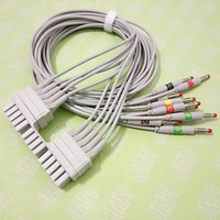 Compatible with Mortara 250C Holter ECG adapter Cable 10 leads IEC Banana 4.0mm leadwire