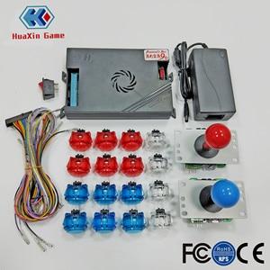 Kit de consola de Arcade DIY, 2 jugadores, caja Pandora 9D 2222 en 1, tablero de juego, joystick de 5 pines sin copia LED, botón pulsador transparente SANWA para máquina