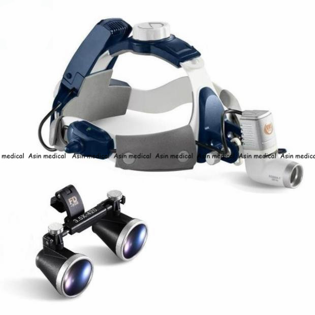 High Quality New 5W LED Surgical Head Light dental Lamp All-in-Ones Headlight with loupes 2.5X , 3.5X 2 5multiple high quality 3 w led surgical medical dental loupes with spotlight head light lamp headlight ac dc with loupes
