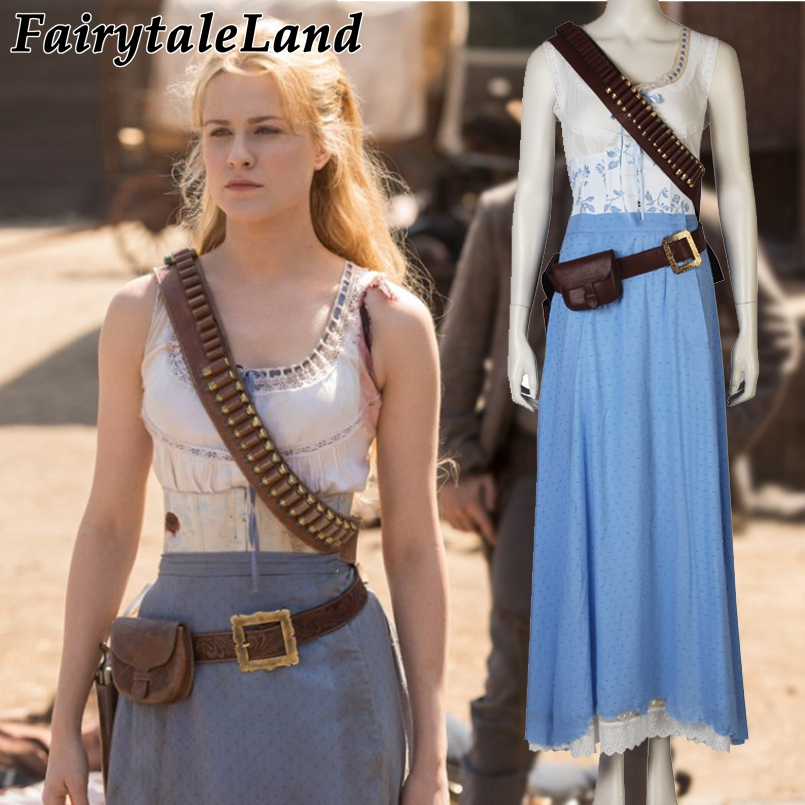 Westworld Dolores Abernathy Cosplay Costume Halloween Costumes Cosplay Dolores Abernathy Dress Adult Women Sexy Costume