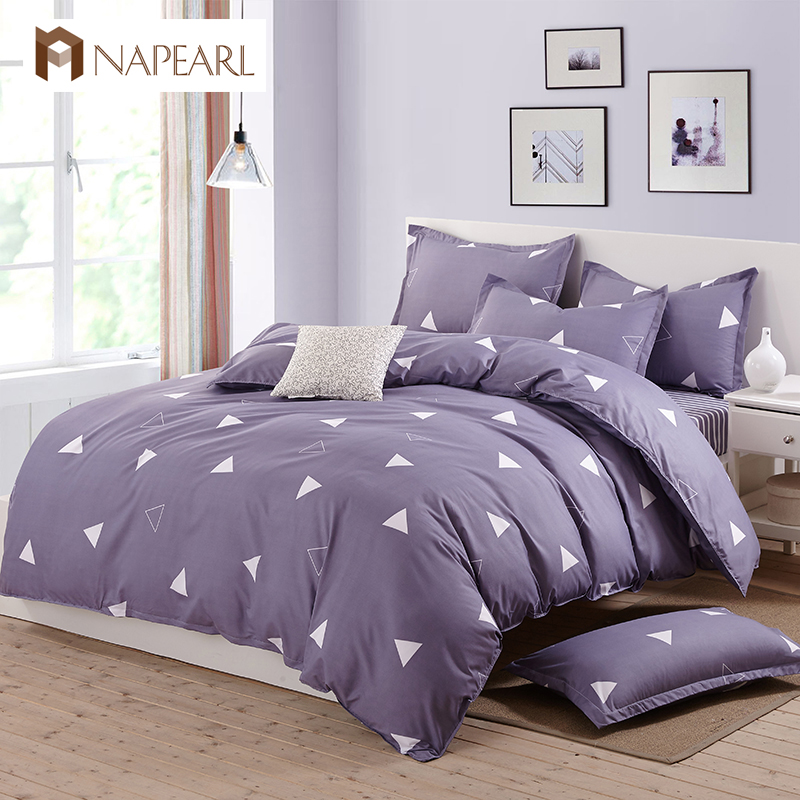 Bedding sets printed polyester and cotton home textile for Minimalist bed sheets