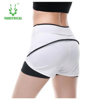 Vansydical Women Sport Shorts 2 In 1 Running Shorts Athletic Cool Ladies Sports Yoga Shorts Fitness