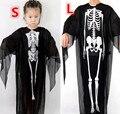 Crianças crânio esqueleto diabo fantasma Horror roupas trajes de Halloween do clássico Cosplay Masquerade roupas