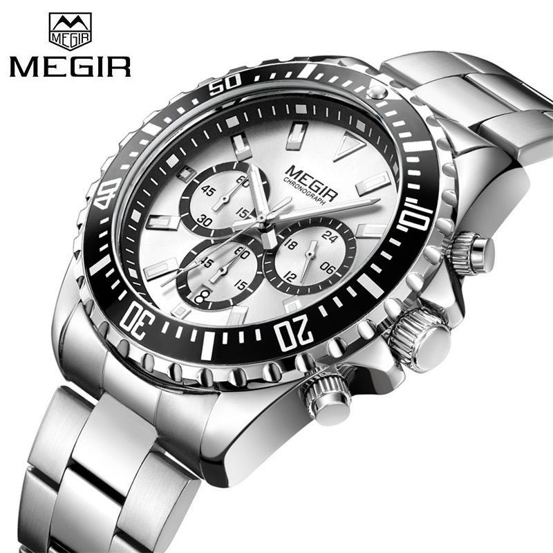 Top Luxury Brand Business Watches Men Stainless Steel Quartz-watch Mens Sports Watch Chronograph Clock Male Relogio Masculino mens watches top brand luxury wishdoit chronograph luminous quartz watch men business men stainless steel waterproof wristwatch