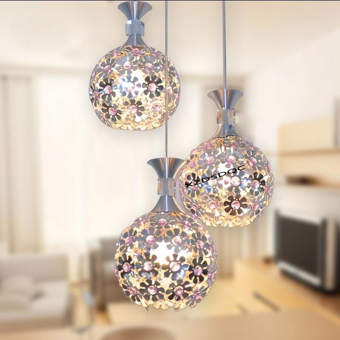 3HEAD crystal light ball aluminum pendant light child real dining room pendant light modern FG964 3head crystal light ball aluminum pendant light child real dining room pendant light modern fg964