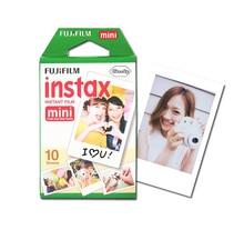 Nouveau 10 pcs/boîte fujifilm instax mini 8 film 10 feuilles pour appareil photo Instantané mini 7 s 25 50 s 90 Photo Papier Blanc Bord 3 pouce large film