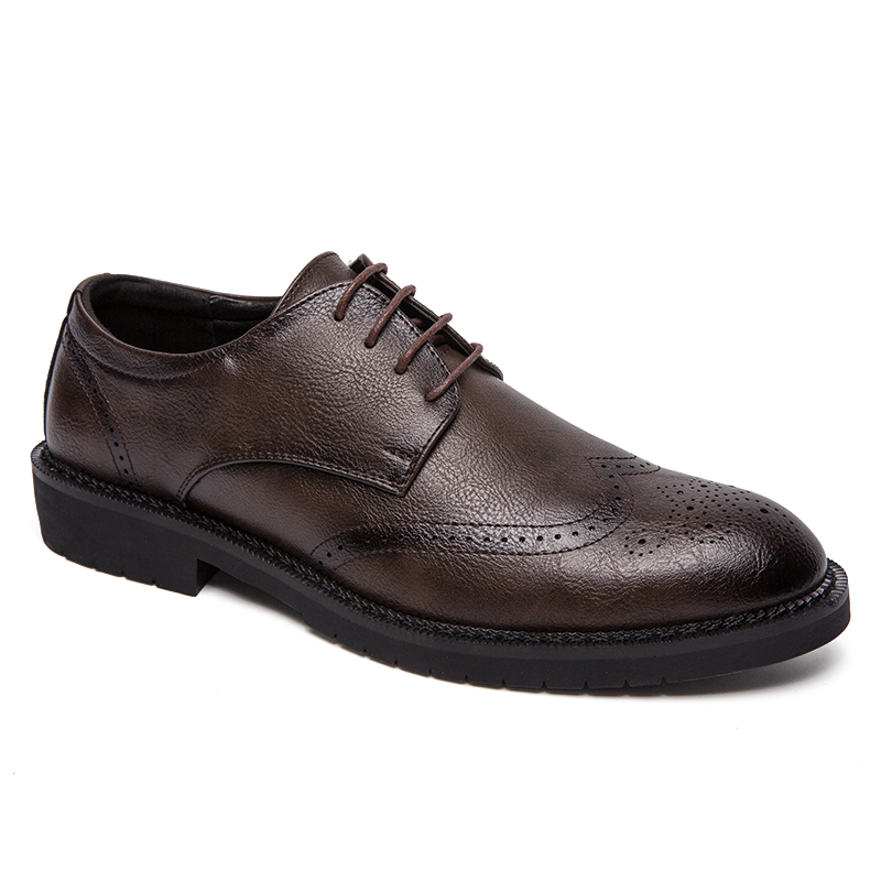 Bullock Chaussures Zapatos Doux Pointu Mâle Taille Richelieu La Cuir toe Hombre De Robes En Sculpture Respirant Hommes Noce Plus NwOynPvm08