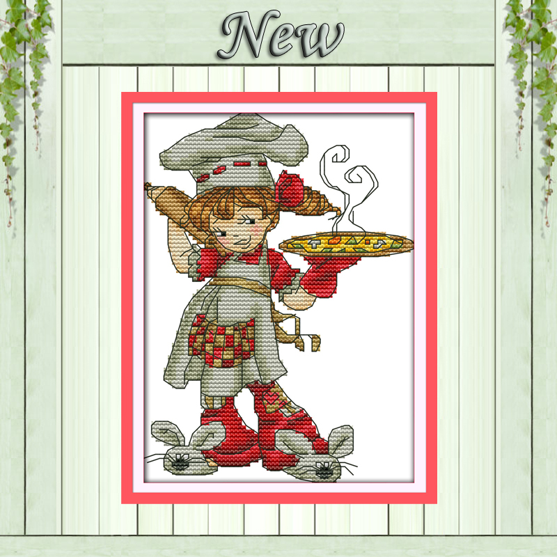 Arts,crafts & Sewing Happy Elves Fairy Home Decor Painting Counted Print On Canvas Dmc 14ct 11ct Chinese Cross Stitch Needlework Sets Embroidery Kits Home & Garden