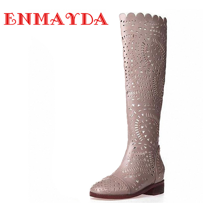 ФОТО ENMAYDA Sping New Women Boots Fashion Sexy Women Knee Boots Over The Knee Platform Knight Boots Shoes Fashion Shoew Women