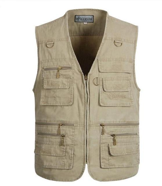 Big size L XL XXL 3XL 4XL 5XL  Men's Clothing  Casual Waistcoats Military Vest