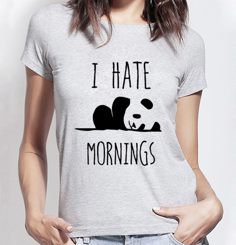 Buy Kawaii Panda Print T Shirt Women I