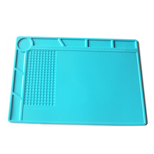 New 1pcs 35x25cm Heat Insulation Silicone Pad Electrical Soldering Repair Station Maintenance Platform with Screw Location Mat