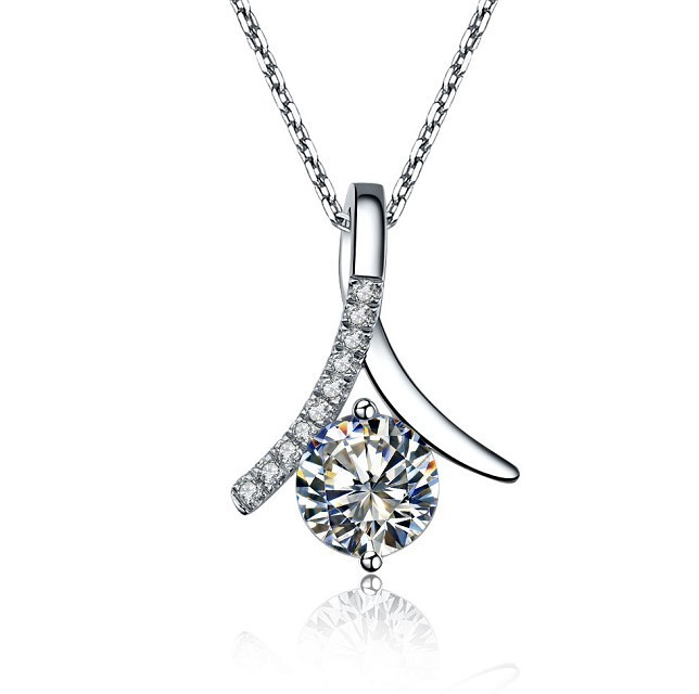 Oem real 585 white gold genius pendant jewelry 2ct necklace oem real 585 white gold genius pendant jewelry 2ct necklace synthetic diamonds pendant solitaire engagement jewelry in pendants from jewelry accessories aloadofball Choice Image