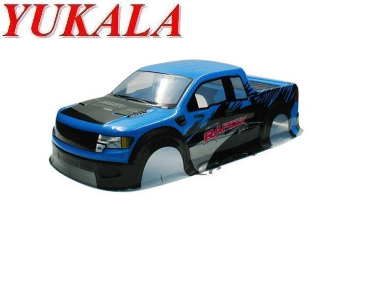 YUKALA 1/10 1:10 PVC painted body shell for 1/10 RC Monster truck 94188 size 430*193mm 2pcs/lot free shipping цена