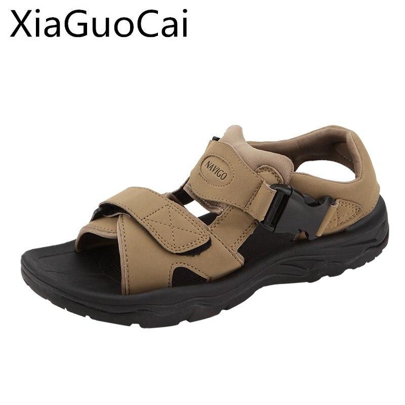 Brown Mens Sandals Peep Toe Summer Gladiator Outdoor Sandals for Man Beach Shoes Anti-skid Fashion Footwear Fisherman Sandals