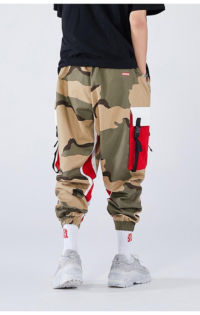 Aolamegs Men Side Strip Track Pants Pocket Pants Men Elastic Waist Sweatpants Casual Streetwear Hip Hop Men High Street Pants (11)