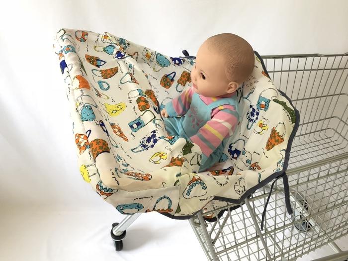[Материал, имитация шелка] 3 цвета, качественный чехол для покупок и стульчик для кормления для младенцев и малышей - Цвет: bag