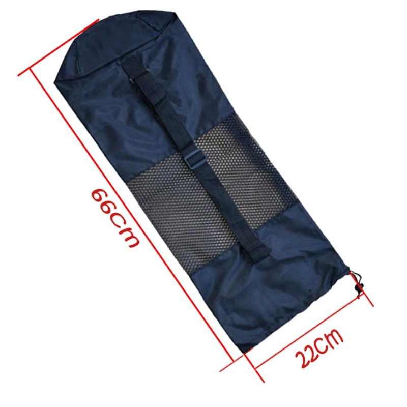 利便性黒ポータブルヨガマットバッグケースナイロンピラティスキャリアメッシュ調節可能なストラップスポーツツールスタイル含めないマット