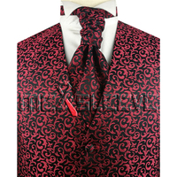 Silk Fabic High Quality Men S Suit Tuxedo Vest And Ascot Tie Set