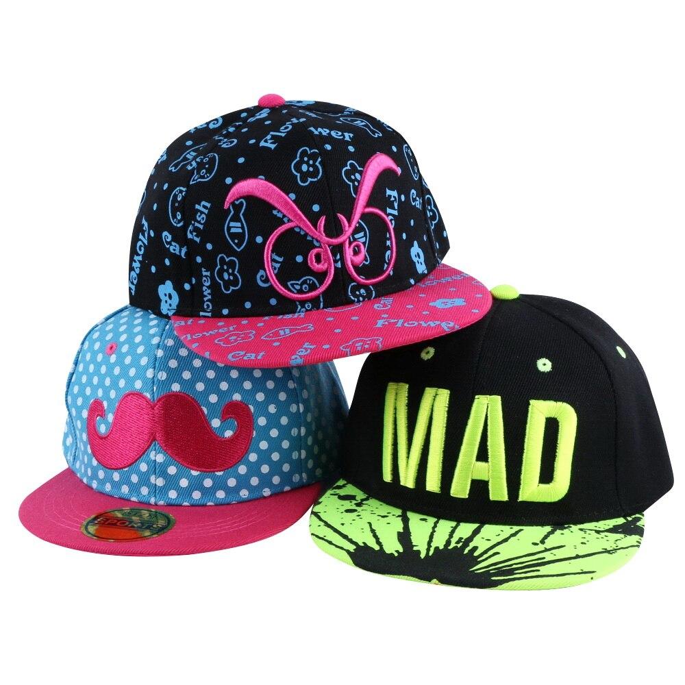 64af2f196da 2016 new trendy custom design children hip hop snapback hats simple letter  beauty baby baseball cap