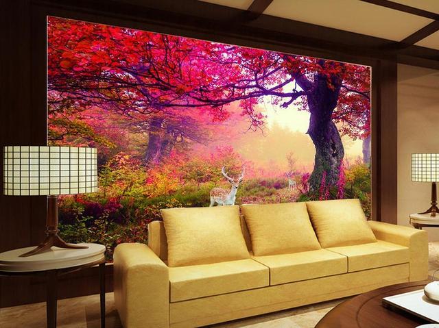 Perfekt Benutzerdefinierte 3d Tapete Meer Elch Wald TV Hintergrund 3d Fototapete  Wohnzimmer Badezimmer Wandmalerei Vliestapete