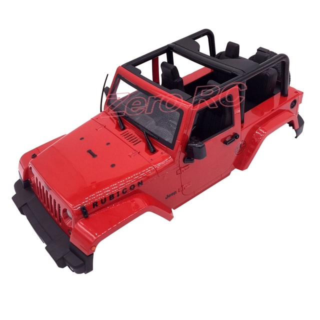 1 10 Rc Truck Hard Body Shell Canopy Rubicon Topless For: Aliexpress.com : Buy RC Scale Truck RED Body Shell 1/10