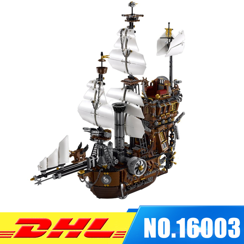 Fit For 70810 DHL LEPIN 16002 Pirate Ship Metal Beard's Sea Cow Model Building Kits Blocks Bricks Toys lepin movie pirate ship metal beard s sea cow model building blocks kits marvel bricks toys compatible legoe