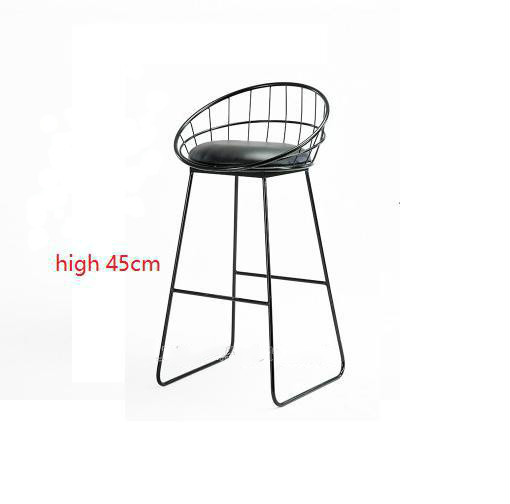 Simple Bar Stool Wrought Iron Bar Chair Gold High Stool Modern Dining Chair Iron Leisure Chair Nordic Bar Chair 45/65/75/85cm