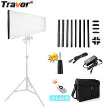 Travor Flexible LED Video Light 30*90cm Dimmable Bi-color 2.4G Remote Control For Studio Photography News Interview Fill Light wireless remote control dimmable bi color 2pcs 300w led fresnel spotlight as arri hmi par light video equipment