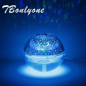 TBonlyone 500ML nawilżacz kolorowe światła rozpuszczalne w wodzie dyfuzor aromatycznych olejków domu ultradźwiękowy nawilżacz powietrza z projektor świetlny