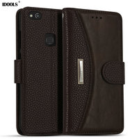For Huawei P10 Lite Case PU Leather IDOOLS Magnetic Dirt Resistant Wallet Cover Phone Accessories Bags