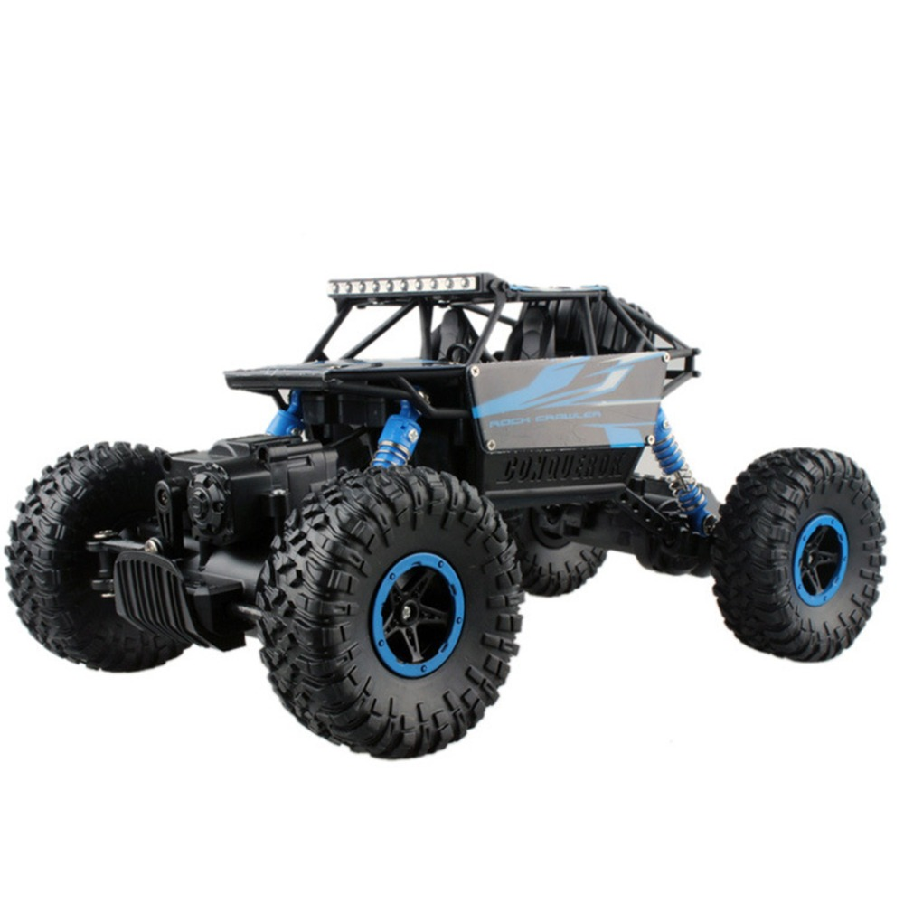 RC Car 4WD 2.4GHz Rock Crawlers Rally Climbing Car Remote Control Model Off-Road Vehicle Toy 4x4 1:18 Double Motors Bigfoot Car