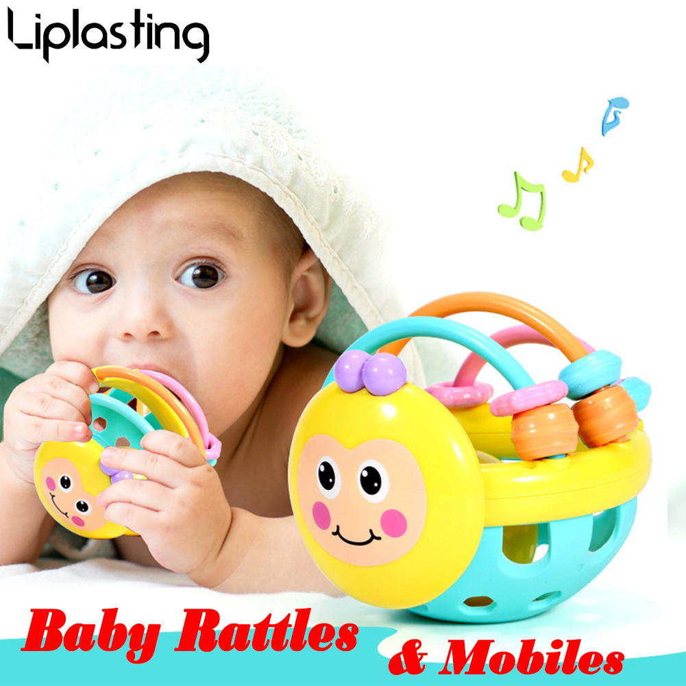 Baby Toys For Children Animal Ball Mobile Toys Baby Rattle Infant Body Building Ball Toys For 0-12 Months Rattle Ball