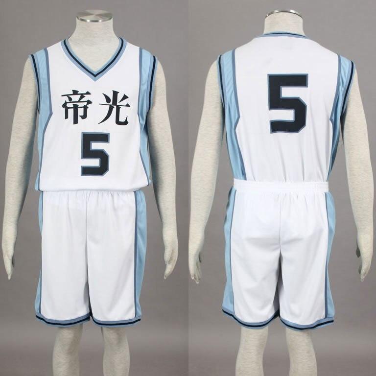 Kuroko no Basuke Basket TEIKO school basketball suit mens uniforms boys sport clothes No.5 Murasakibara Atsushi cosplay costume