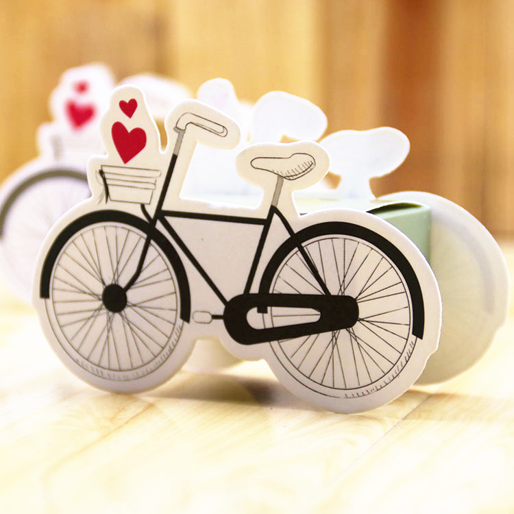 100pcs/Lot creative bicycle Candy Box Wedding Party Marriage Decoration Travel Theme Wedding favors gifts for guest