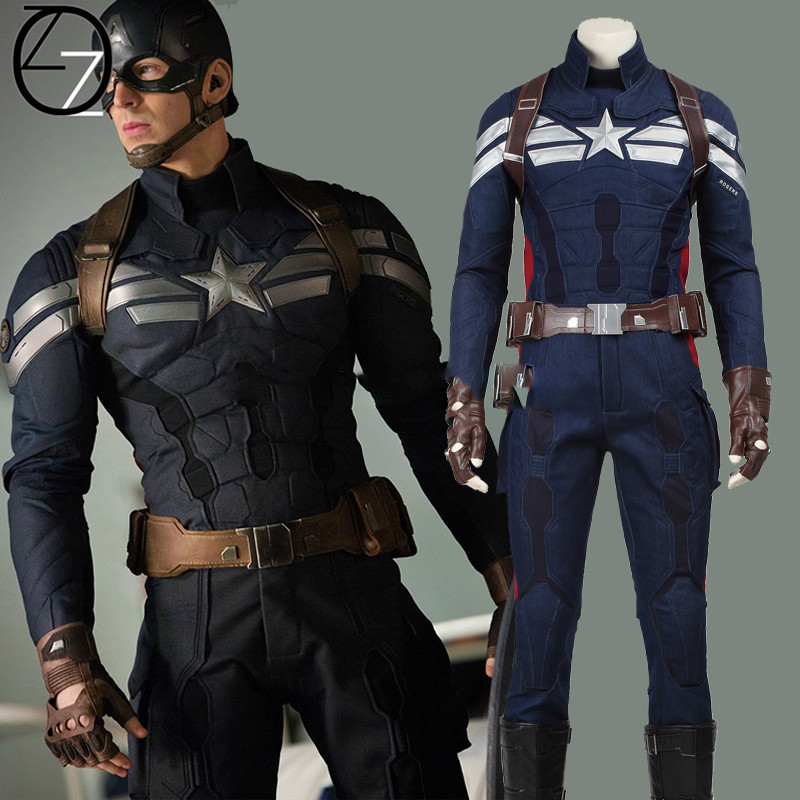 Halloween Costumes Adult Captain America 2 The Winter Soldier Cosplay Costume Superhero Captain ...